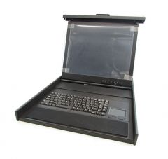 091-000-091 - EMC 15-inch Rackmount LCD TFT Screen Monitor and Keyboard with Trackball