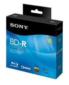 10BNR25RNS - Sony 10BNR25RNS Blu-ray Recordable Media - BD-R - 6x - 25 GB - 10 Pack Spindle - 120mm